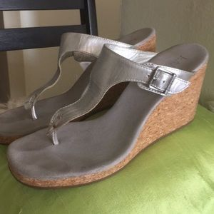 Ralph Lauren Metallic Wedge Sandal